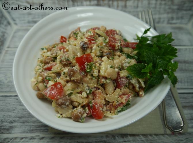Bohnen-Tomaten-Salat mit Feta