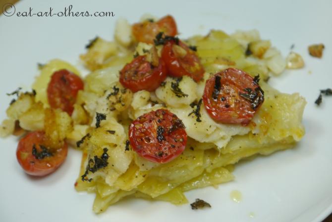 Baccalà con patate al forno 1