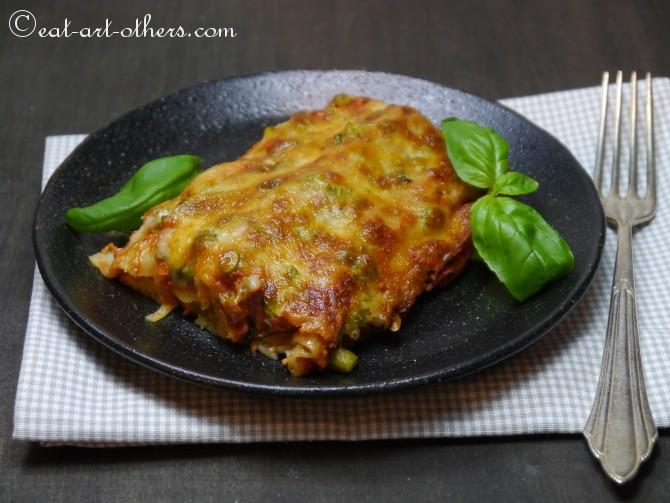 Cannelloni mit Spargel und Schinken