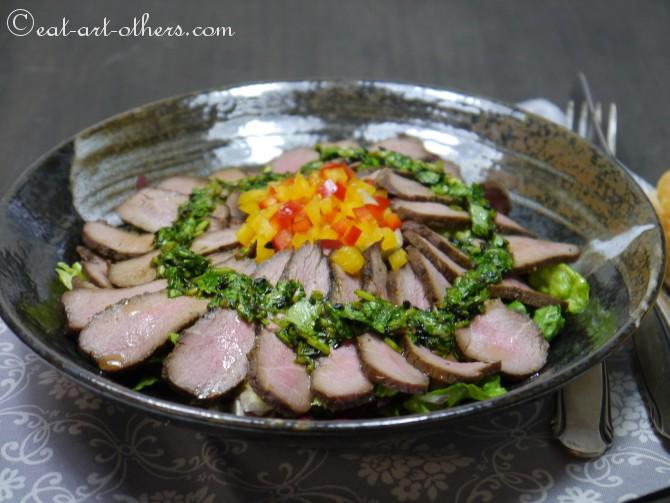 Lammfilet auf Salat mit Asia-Dressing I