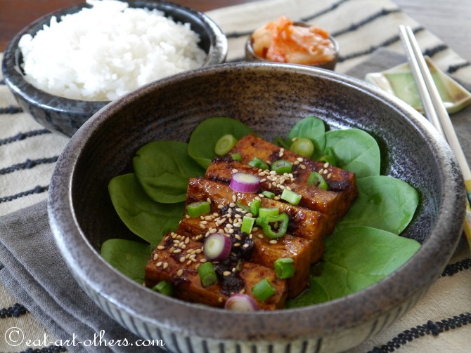 Koreanischer Tofu  Dubu Jorim